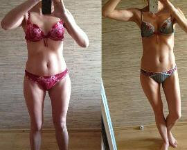 Before and after using Dietonus 5